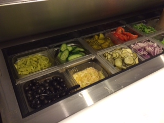 Our Fresh Vegetables including our House made Pickles and Banana Peppers